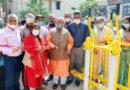 महापौर ने पीतमपुरा में ओपन जिम का उद्घाटन किया