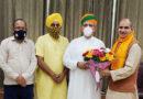 महापौर ने केंद्रीय मंत्री अर्जुन राम मेघवाल से शिष्टाचार भेंट की